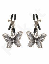 Fetish Fantasy Spenelių spaustukai su drugeliais