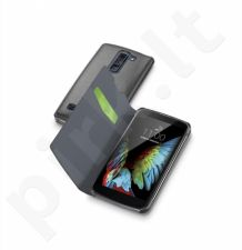 LG K10 atverčiamas dėklas BOOK ESSEN by Cellular juodas