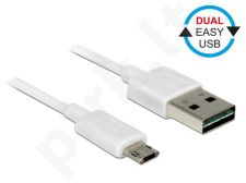 Delock Cable Easy USB 2.0 type-A male > Easy USB 2.0 type Micro-B male 2m white