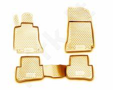 Guminiai kilimėliai 3D MERCEDES-BENZ C-Class W204 2007-2014, 4 pcs. /L46039B /beige