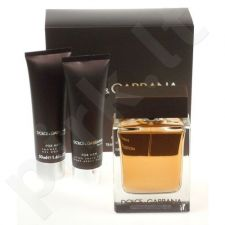 Dolce & Gabbana (EDT 100 ml + 50 ml balzamas po skutimosi + 50 ml dušo želė) The One, rinkinys vyrams