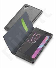 Sony Xperia  X atverčiamas dėklas BOOK ESSEN by Cellular juodas