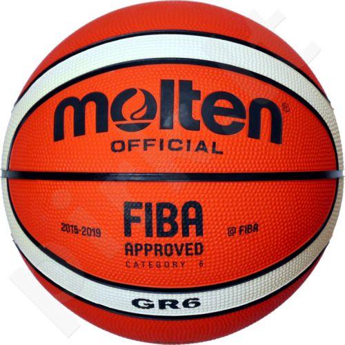 Krepšinio kamuolys rubber BGR6-OI orange/ivory