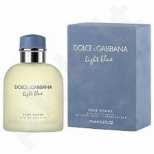 Dolce & Gabbana Light Blue Pour Homme, tualetinis vanduo (EDT) vyrams, 75 ml