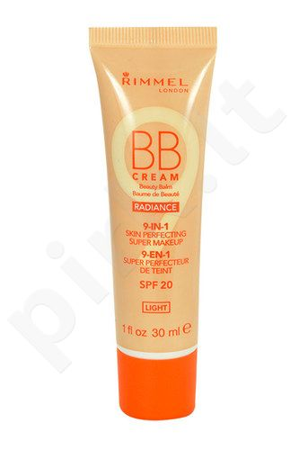 Rimmel London BB kremas 9in1 SPF20, kosmetika moterims, 30ml, (Light)