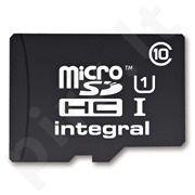 Atminties kortelė Integral microSDHC 16GB CL10 + Adapteris