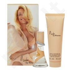 Rihanna Nude rinkinys moterims, (EDP 15 ml + 90 ml dušo želė)
