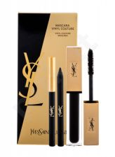 Yves Saint Laurent Mascara Vinyl Couture, rinkinys blakstienų tušas moterims, (Mascara Vinyl Couture 6,7 ml + atsparus vandeniui akių kontūrų pieštukas 0,8 g No.1), (No.1)