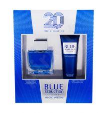 Antonio Banderas Blue Seduction For Men, rinkinys tualetinis vanduo vyrams, (EDT 100 ml + losjonas po skutimosi 75 ml)