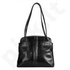 DAN-A T218 juoda rankinė iš natūralios odos , moteriška