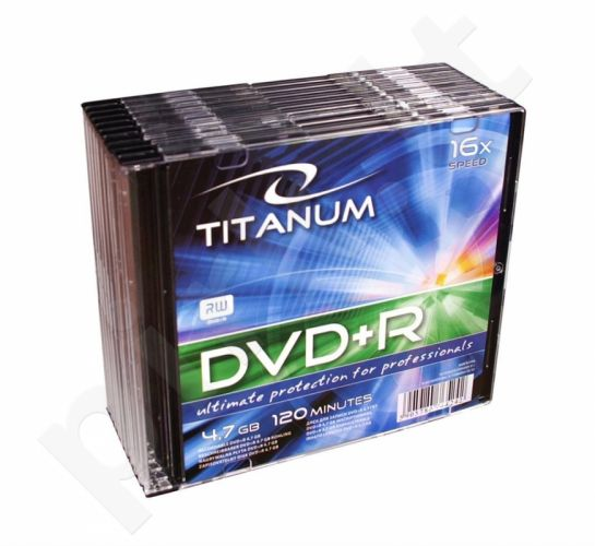 DVD+R TITANUM [ slim jewel case 10 | 4.7GB | 16x ]