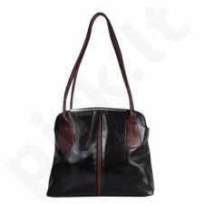 DAN-A T218 juoda-konjako spalvos rankinė iš natūralios odos , moteriška