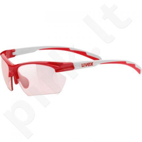 Akiniai Uvex Sportstyle 802 Small Vario raudona-baltas