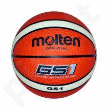 Krepšinio kamuolys rubber BGS1-OI orange/ivory