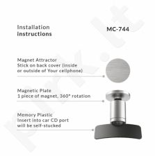 Maclean MC-744 Round Aluminum Magnetic Holder