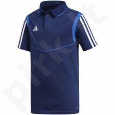 Marškinėliai futbolui Adidas Tiro 19 Cotton Polo Junior DU0864