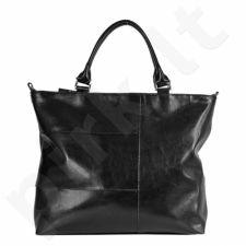 DAN-A T226 juoda rankinė iš natūralios odos , moteriška