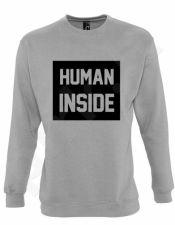 "Džemperis ""Human inside"" (be kapišono)"