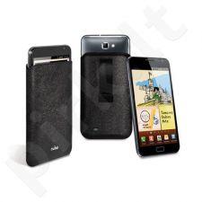 Dėklas Puro Slim Essential Samsung N7000 Galaxy Note Juodos odos