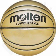 Krepšinio kamuolys suvenyras BG-SL7 oda gold