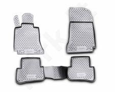 Guminiai kilimėliai 3D MERCEDES-BENZ C-Class W204 2007-2014, 4 pcs. /L46039G /gray