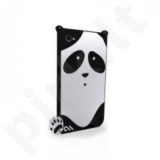 Dėklas Case-Mate Creatures Apple iPhone 4, 4S Juodas (Panda)