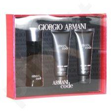 Giorgio Armani (EDT 75 ml + 75 ml balzamas po skutimosi + 75 ml dušo želė) Black Code, rinkinys vyrams