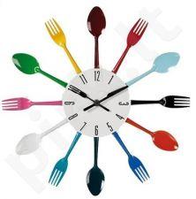 """Laikrodis """"Spalvoti stalo įrankiai"""""""