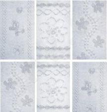 Vienspalvės medvilninės pėdkelnės (baltos) su žakardiniu 3D raštu