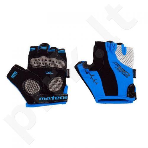 Pirštinės dviratininkams Meteor GEL BX-4 mėlynai-juodos
