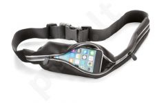 Sportinis dėklas ant juosmens su dviem kišenėlėmis Cellular juodas