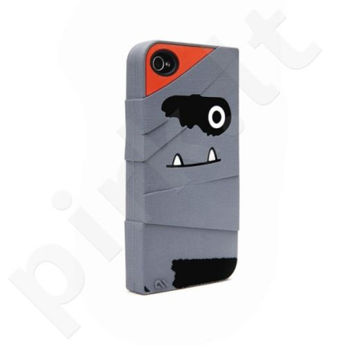 Dėklas Case-Mate Creatures Apple iPhone 4, 4S Pilkas (Mumija)