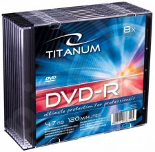 DVD-R TITANUM [ slim jewel case 10 | 4.7GB | 8x ]
