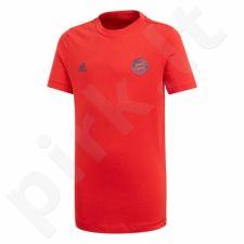 Marškinėliai futbolui adidas FC Bayern BM Tee Junior CV6195
