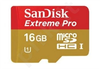 Sandisk memory card 16GB Micro SDHC UHS-1 Extreme Pro