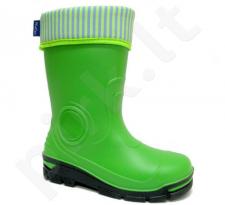 Žali guminiai batai su pašiltinta kojine 29-36 d. 33-466-ZIELONY