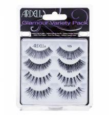 Ardell 105, Glamour, rinkinys dirbtinės blakstienos moterims, (1 pair of Lashes + 1 pair of Lashes Glamour 415 + 1 pair of Lashes Glamour 601 + 1 pair of Lashes Glamour Wispies), (Black)