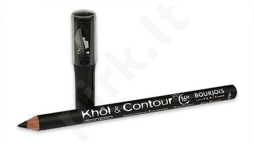 BOURJOIS Paris akių kontūrų pieštukas Khol Contour Black, kosmetika moterims, 1,4g, (Black Black)