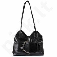 DAN-A T10 juoda rankinė iš natūralios odos , moteriška