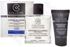 Collistar Sensitive Skins After-Shave, Linea Uomo, rinkinys balzamas po skutimosi vyrams, (100ml Sensitive losjonas po skutimosi + 30ml Supermoisturizer)