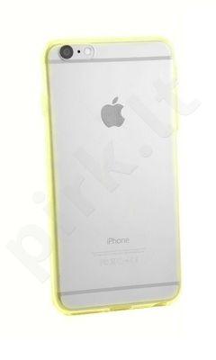 Apple iPhone 6 Plus dėklas JELLY Mercury geltonas trans.