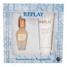 Replay Jeans Original! For Her, rinkinys tualetinis vanduo moterims, (EDT 20 ml + kūno losjonas 100 ml)