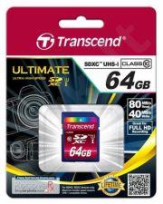 Atminties kortelė Transcend SDXC 64GB CL10 UHS1