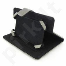 Planšetės dėklas Qoltec Universalus 7' Juodai sidabrinis