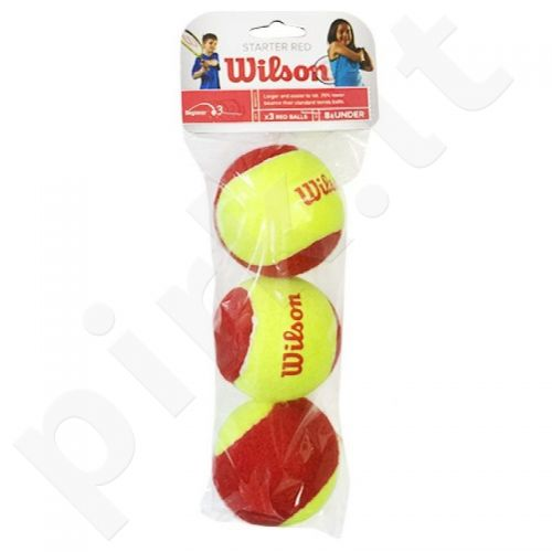 Teniso kamuoliukai Wilson Starter Red Junior 3vnt