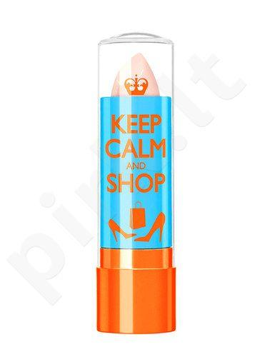 Rimmel London Keep Calm&Shop Lip Balm, kosmetika moterims, 3,8g, (010 Clear)