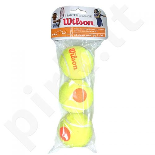Teniso kamuoliukai Wilson Starter Orange Junior 3vnt