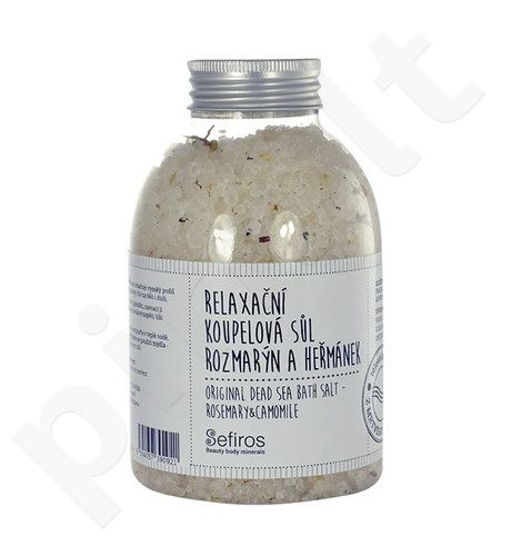 Sefiros Original Dead Sea vonios druska Rosemary & Camomile, kosmetika moterims, 500g