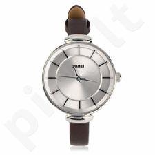 Moteriškas laikrodis SKMEI 1184CL  Silver Case Light Brown
