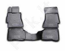 Guminiai kilimėliai 3D MERCEDES-BENZ S-Class W221 2005-2013, 4 pcs. /L46033